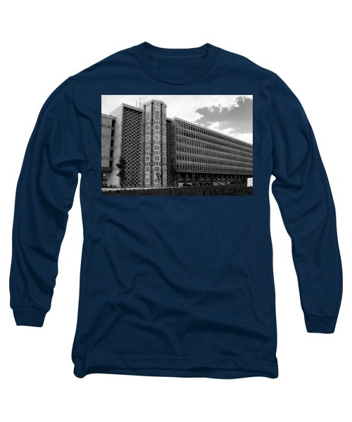 Long Sleeve T-Shirt featuring the photograph Modern Lisbon - The Palace Of Justice by Lorraine Devon Wilke