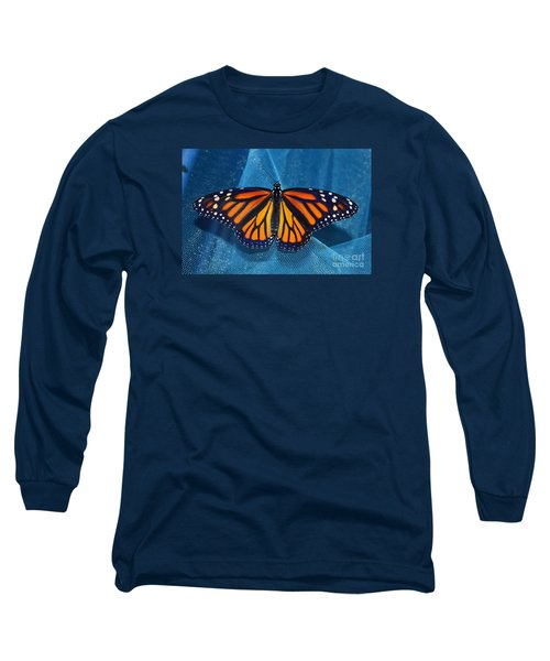 Long Sleeve T-Shirt featuring the photograph Monarch Royalty by Lew Davis