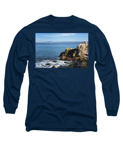 Long Sleeve T-Shirt featuring the photograph Monterey Bay by Gina Savage
