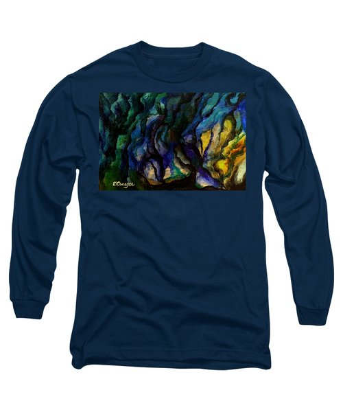 Moody Bleu Long Sleeve T-Shirt