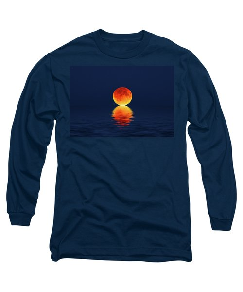 Moon Kissing The Sea Long Sleeve T-Shirt
