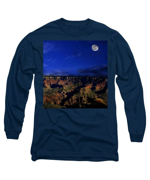 Moon Over The Canyon Long Sleeve T-Shirt
