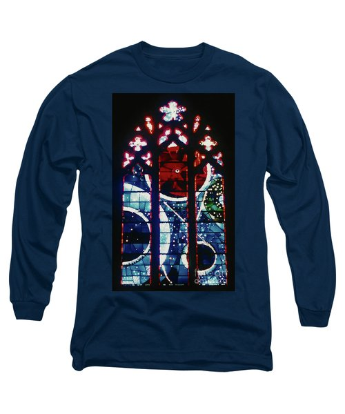 Moon Rock In Space Window Long Sleeve T-Shirt by D Hackett