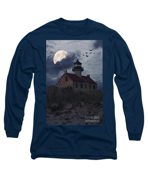 Moonlight At East Point Long Sleeve T-Shirt