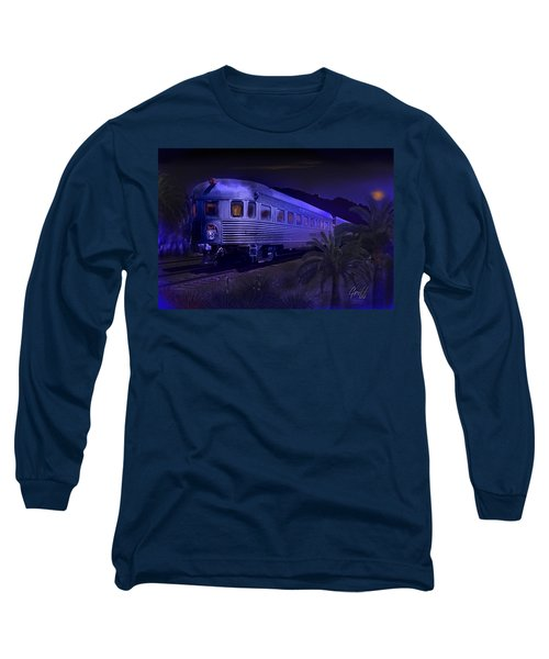 Moonlight On The Sante Fe Chief Long Sleeve T-Shirt by J Griff Griffin