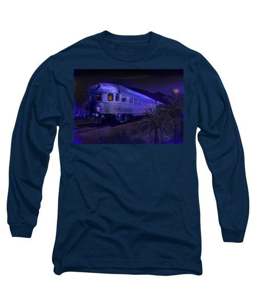 Moonlight On The Sante Fe Chief Long Sleeve T-Shirt