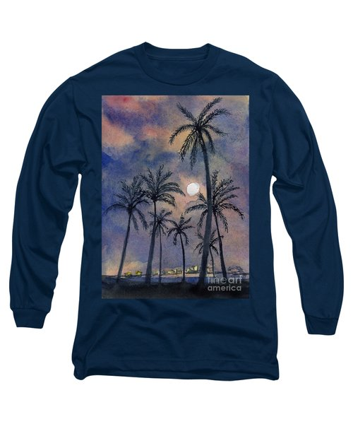 Moonlight Over Key West Long Sleeve T-Shirt