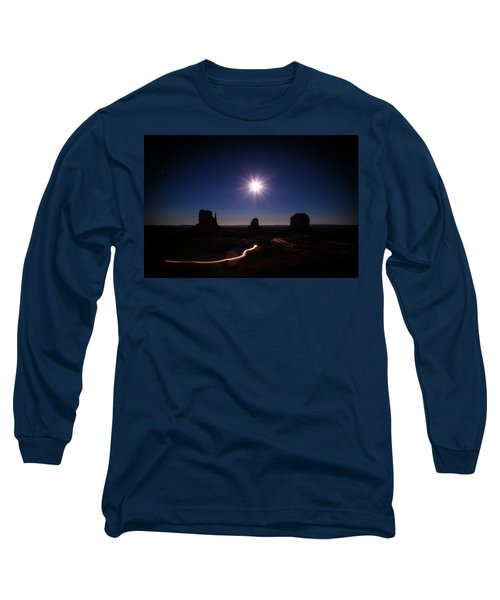 Moonlight Over Valley Long Sleeve T-Shirt