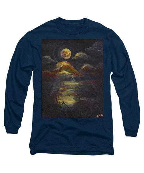 Moonlit Beach Guam Long Sleeve T-Shirt