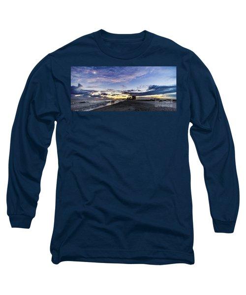 Moonlit Beach Sunset Seascape 0272c Long Sleeve T-Shirt