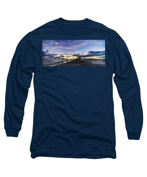 Moonlit Beach Sunset Seascape 0272c Long Sleeve T-Shirt