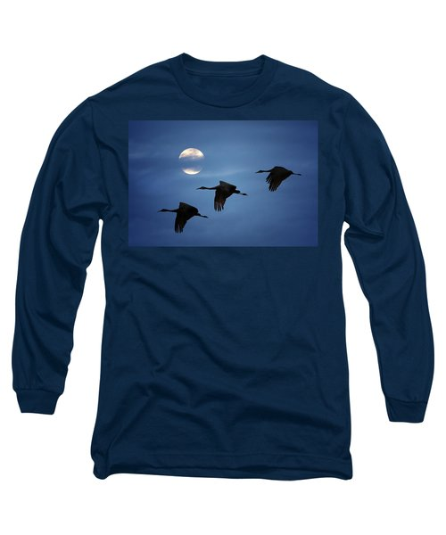 Moonlit Flight Long Sleeve T-Shirt