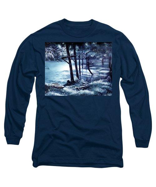 Moonlite On Village Creek Long Sleeve T-Shirt
