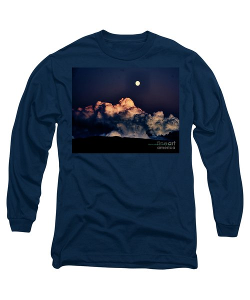 Moonrise In Taos Long Sleeve T-Shirt