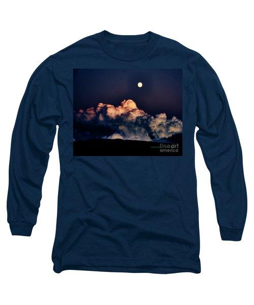 Moonrise In Taos Long Sleeve T-Shirt