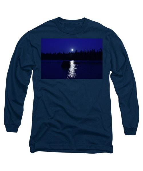Moonrise On A Midsummer's Night Long Sleeve T-Shirt by David Porteus