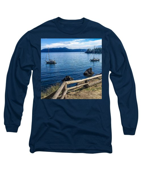 Long Sleeve T-Shirt featuring the photograph Mooring In Doe Bay by William Wyckoff