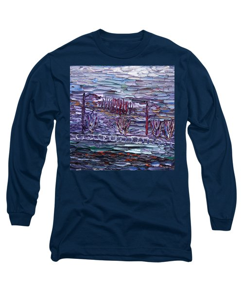 Long Sleeve T-Shirt featuring the painting Morning At Sayreville by Vadim Levin