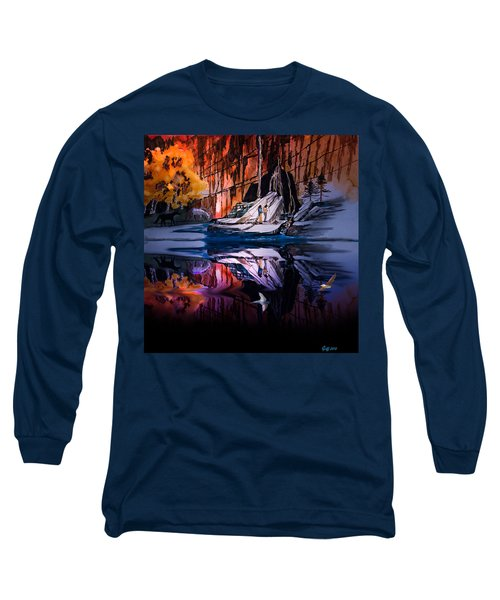 Morning Coffee Long Sleeve T-Shirt by J Griff Griffin