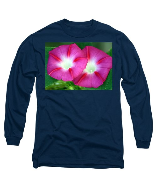 Long Sleeve T-Shirt featuring the photograph Morning Glories by Sheila Brown
