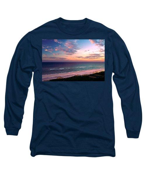 Morning Light On Rosemary Beach Long Sleeve T-Shirt by Marie Hicks