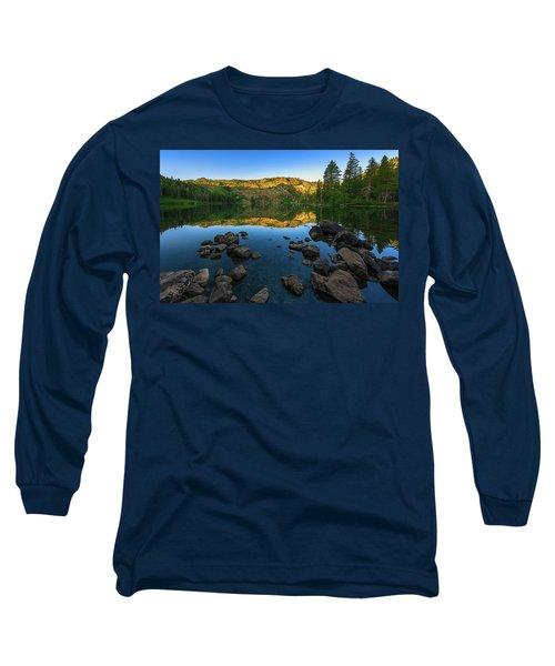 Morning Reflection On Castle Lake Long Sleeve T-Shirt