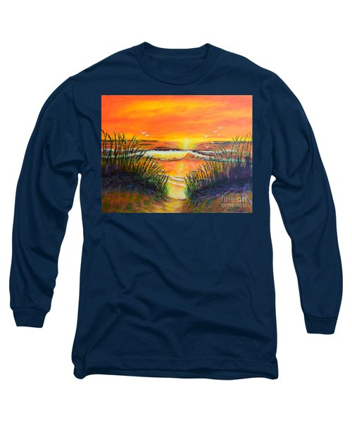 Long Sleeve T-Shirt featuring the painting Morning Sun by Melvin Turner