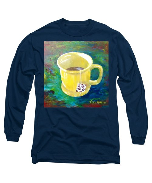 Morning Tea Long Sleeve T-Shirt by T Fry-Green