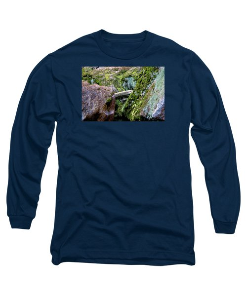 Long Sleeve T-Shirt featuring the photograph Mossy Rocks by Phyllis Denton