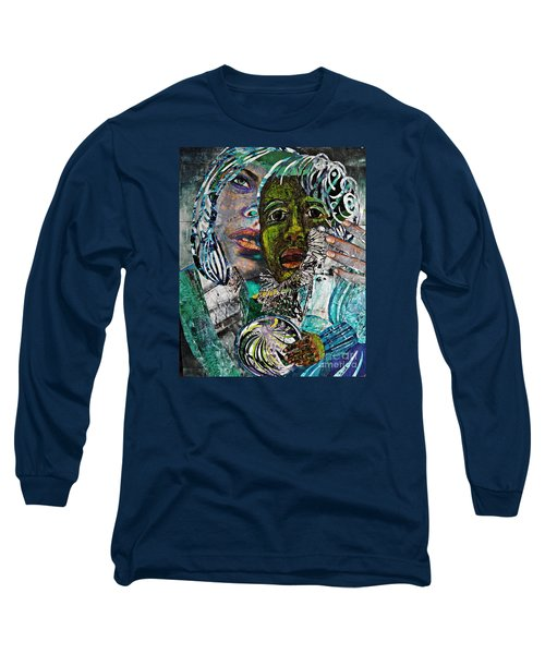 Mother And Child Long Sleeve T-Shirt by Sarah Loft