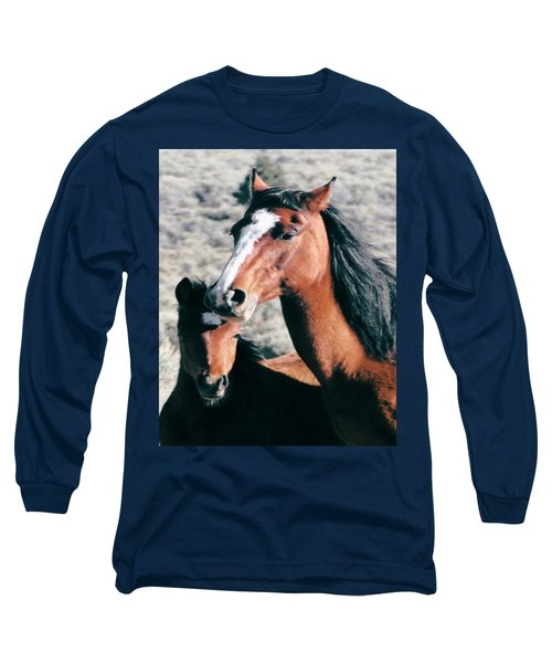 Mother And Colt Wild Long Sleeve T-Shirt