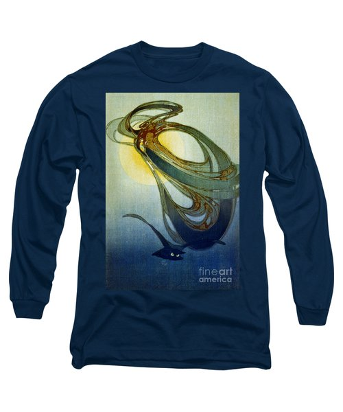 Mother West Wind 1920 Long Sleeve T-Shirt by Padre Art