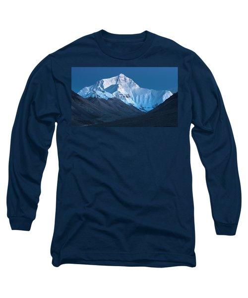 Mount Everest At Blue Hour, Rongbuk, 2007 Long Sleeve T-Shirt