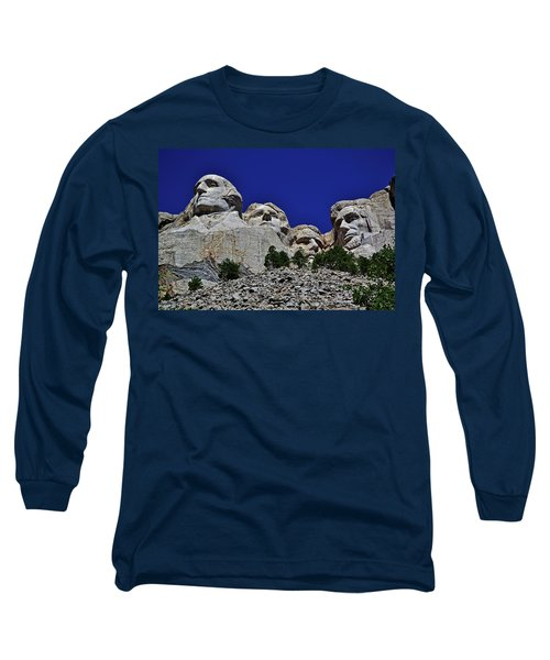 Long Sleeve T-Shirt featuring the photograph Mount Rushmore 007 by George Bostian