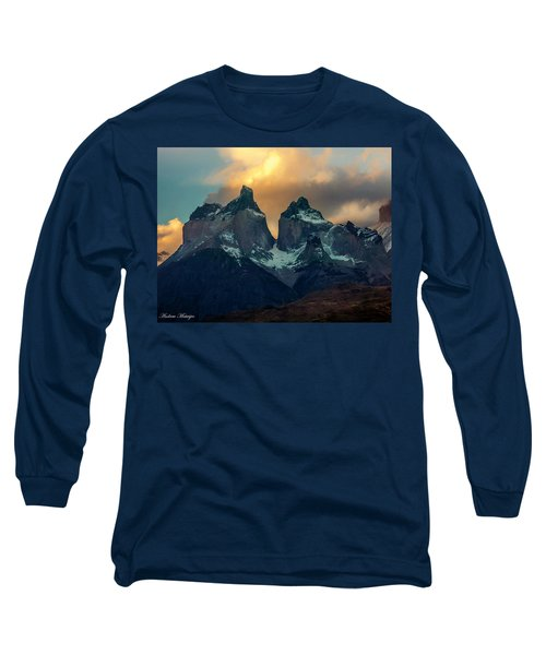 Long Sleeve T-Shirt featuring the photograph Mountain Evening by Andrew Matwijec