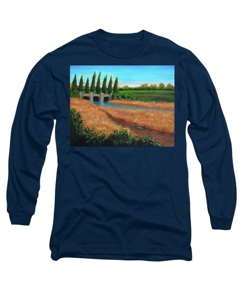 Mountain House In The Fall Long Sleeve T-Shirt