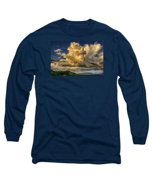 Mountain Shower And Storm Clouds Long Sleeve T-Shirt by Thomas R Fletcher