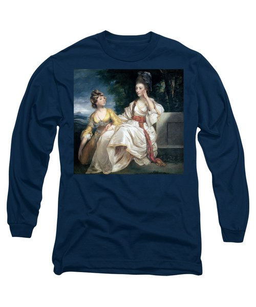 Mrs Thrale And Her Daughter Hester Long Sleeve T-Shirt