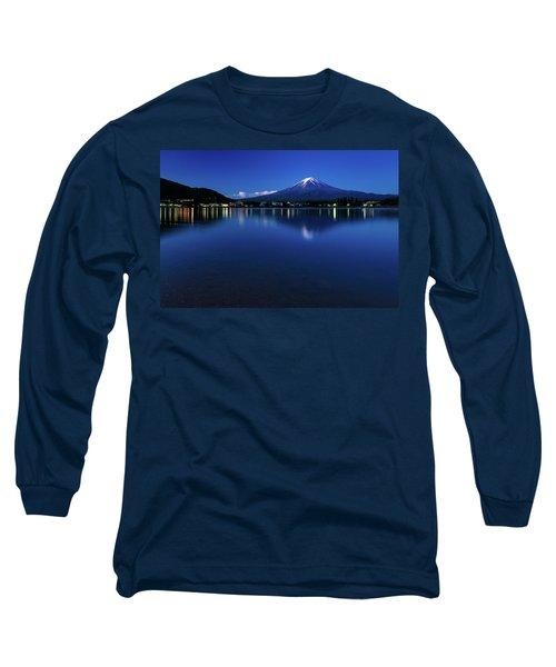 Mt Fuji - Blue Hour Long Sleeve T-Shirt