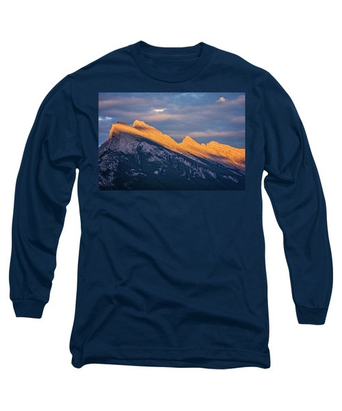 Mt Rundle Sunset Banff Long Sleeve T-Shirt