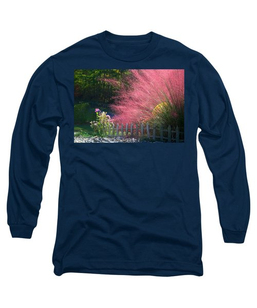 Long Sleeve T-Shirt featuring the photograph Muhly Grass by Kathryn Meyer