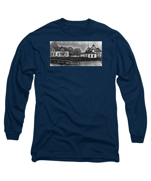 Mukilteo Lighthouse And The Dock Long Sleeve T-Shirt by Kirt Tisdale
