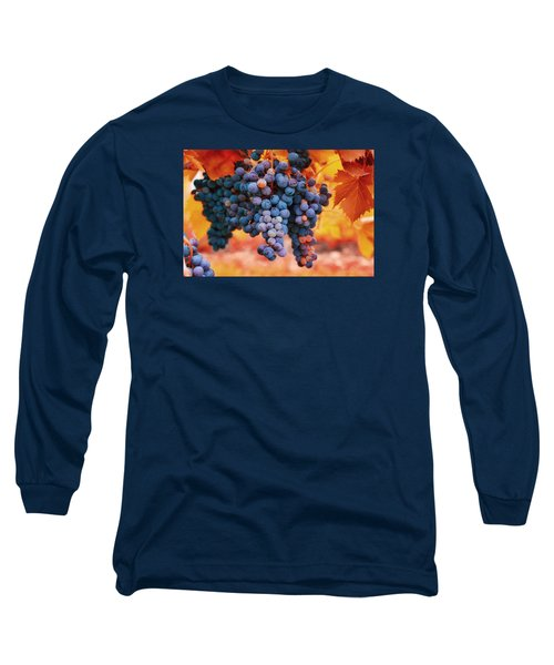 Multicolored Grapes Long Sleeve T-Shirt