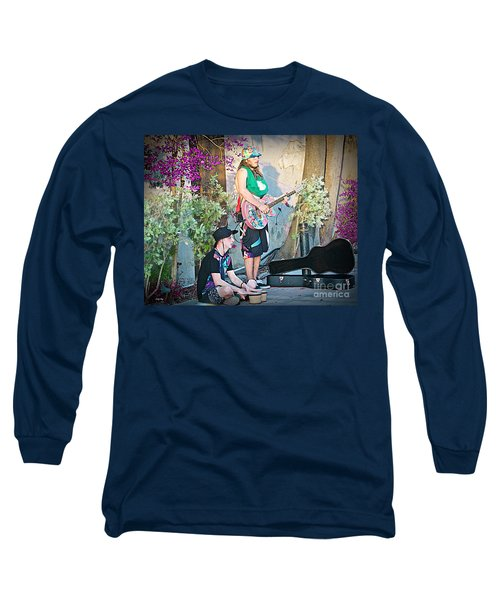 Music On The Side Long Sleeve T-Shirt by Judy Kay