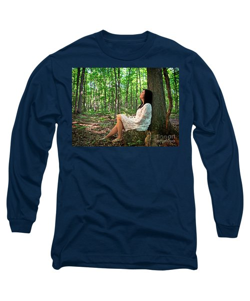 Long Sleeve T-Shirt featuring the photograph Musing.. by Nina Stavlund