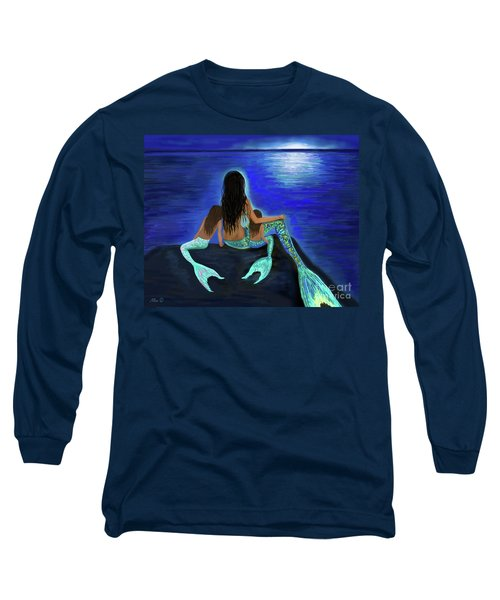 Long Sleeve T-Shirt featuring the painting My Adorable Girls by Leslie Allen