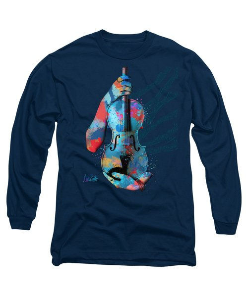 My Violin Whispers Music In The Night Long Sleeve T-Shirt