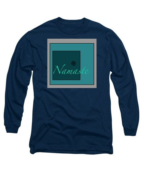 Namaste In Blue Long Sleeve T-Shirt