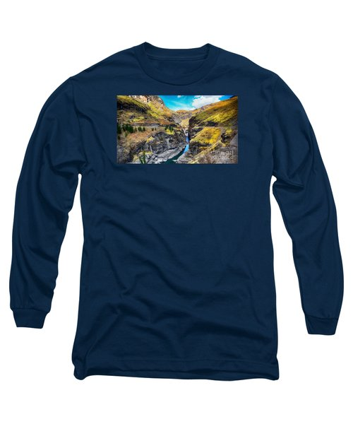 Narrow River In Mountains Long Sleeve T-Shirt