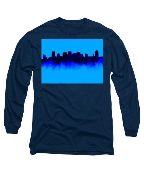 Nashville  Skyline Blue  Long Sleeve T-Shirt